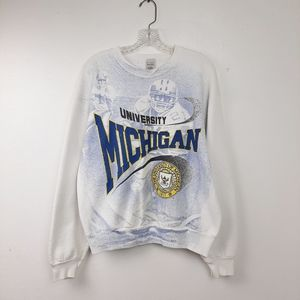 Vintage Michigan Football Sweatshirt MI UofM XL